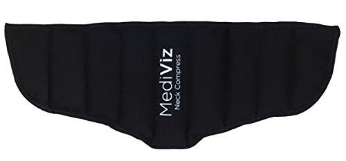 Warm Cold Neck Shoulder Wrap by MediViz, Heat Wrap, Microwave Heating Pad Moist Heat Therapy Pack for Neck Pain, Back Pain, Stiffness Relief, Neck Tension, and Anxiety Relief. Reusable, Microwavable