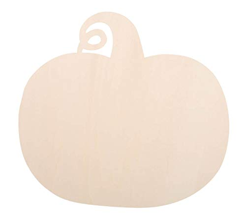 DARICE 9184-48 Unfinished Wood Pumpkin Cutout: 11 inches