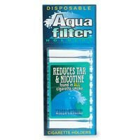 Aqua Filter, Nicotine & Tar Filtered Disposable Cigarette Holders - 10 (Nicotine Filter)