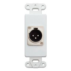 - QualConnectTM Decora Wall Plate Insert, White, XLR Male to Solder Type