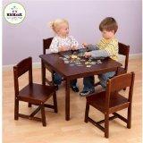 KidKraft Farmhouse Table and Chair Set Pecan