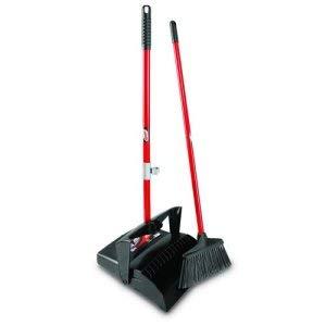 Libman Broom & Dust Pan Combo w/Open Lid, 2 Sets per Case (1 Case) by Libman