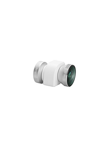 4-IN-1 olloclip for iPhone 5/5s/SE : Fisheye, Wide-Angle, 2 Macros. Color: Silver Lens/White Clip