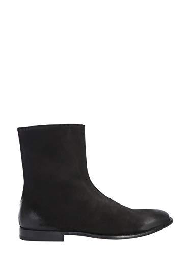 Alexander McQueen Men's 526258Wht801000 Black Leather Ankle Boots