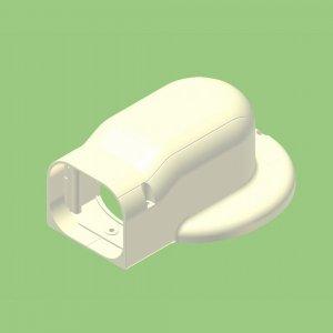 10個セット 配管化粧カバー マンション用出口化粧カバー(先付用) 77タイプ 適用フランジ径130mm以下 グレー KMD-75S-G_set