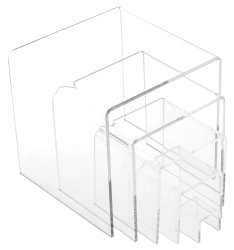 Plymor Set of 5 Economy Acrylic Display Risers - 1