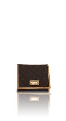 Signature Brown Tri-Fold Wallet by Rioni Designer Handbags & (Rioni Purses)