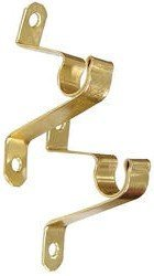 Graber Cafe Curtain Rod Brackets, Brass (1 Pair)