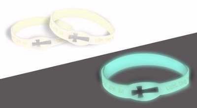 (Bracelet-Light The Night w/Jesus Glow In The)