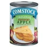 Duncan Hines, Comstock, Country Apple Pie Filling and Topping, 21oz Can (Pack of 4)