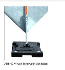 Dicke Safety Products DSB100HD Stacker Rubber Base Sign Stand with Pocket Panel Holder, 48 lb
