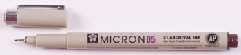 ((One Dozen) Pigma Micron 05/.45 Burgundy Ink Fine Drawing Pens Drafting, Engineering, Art (General Catalog))