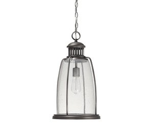 - Capital Lighting 9636GR Harbor 1-Light Exterior Hanging Lantern, Graphite Finish with Seedy Glass