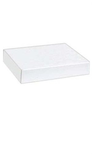 Count of 100 Apparel Boxes - White - 86202 with 11½'' x 8½'' x 1⅝''
