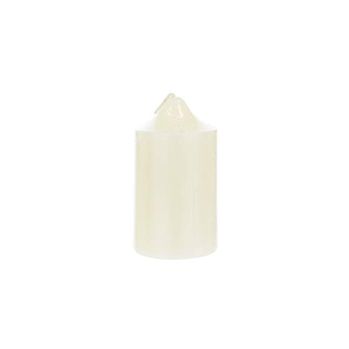 Mega Candles Unscented Ivory Round Pillar Candle | Hand Poured Premium Wax Candles 2