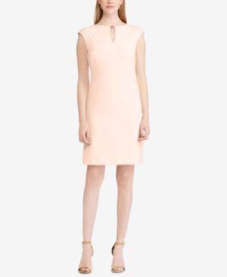 LAUREN RALPH LAUREN Womens Sleeveless Sheath Cocktail Dress Pink 14