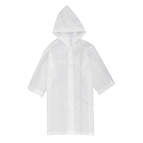 Exceart 2pcs Reusable Raincoat EVA Rain Ponchos Raincoats with Hood