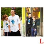 Lovely The Smurfs Style 100% Cotton Lover's Long-Sleeve T-Shirt for Man(1-Pack)-Color Assorted/Size L