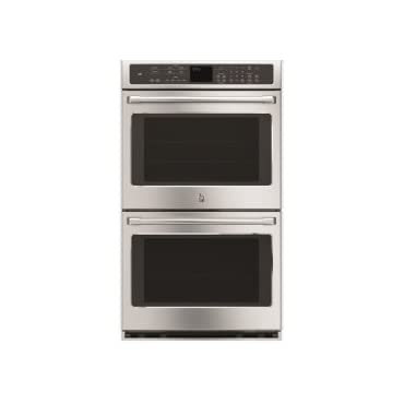 GE Cafe Series 30' Built-In Double Convection Wall Oven Stainless (CT9550SHSS)