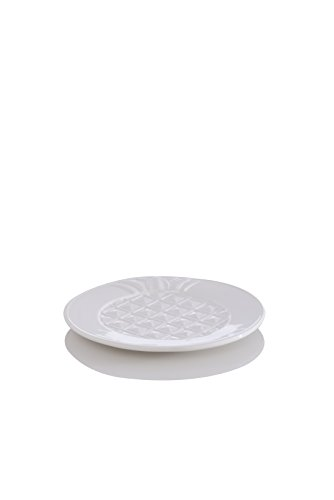 Shiraleah Pineapple Dessert Plate, White by Shiraleah
