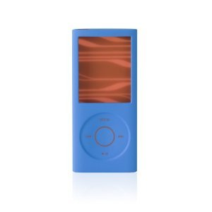 Silicone Ipod Sleeves Nano - Belkin Silicone Sleeve Case for iPod nano 4G (Blue/Orange)