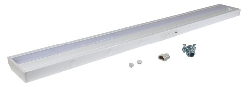 (American Lighting ALC-32-WH LED Complete Under Cabinet Light, 10-Watt, 120-Volt Dimmable Warm White, 32-Inch, White)