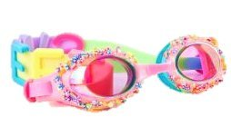 Candy Swimming Goggles For Kids by Bling2O - Anti Fog, No Leak, Non Slip and UV Protection - Pink Pastry Colored Fun Water Accessory Includes Hard Case