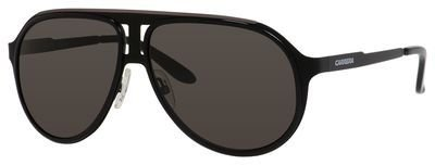 Carrera Metal Aviator Sunglasses 61 0HKQ Black Ruthenium NR brown gray lens