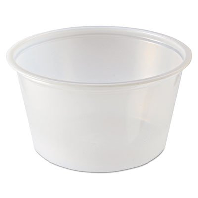 Portion Cups, 2 oz, Clear, 2500/Carton (6 Cartons)