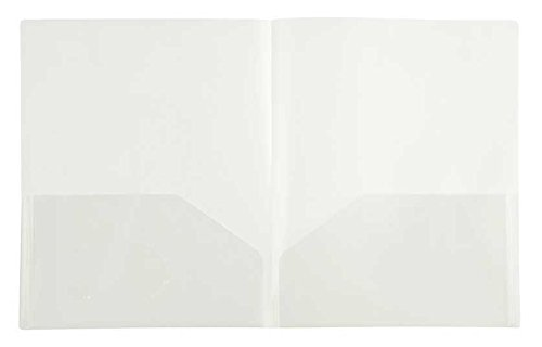 2 Clear Pockets - Filexec 2-Pocket Folder, Business Card Die-Cut, Translucent Clear (Pack of 12) (50116-31213)