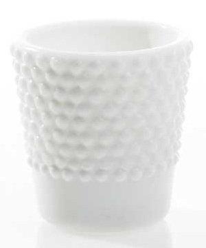 Hobnail White Glass Votive Holder- 2.5
