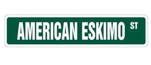 LA STICKERS American Eskimo Street Sticker Dog Lover Gift pet Veterinarian Assistant Breeder - Sticker Graphic - Auto, Wall, Laptop, Cell, Truck Sticker for Windows, Cars, Trucks, Tool Boxes, - Breeder American Eskimo