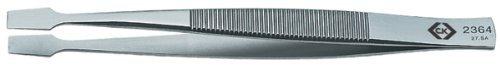 C. K Tools T2364 Stainless Steel Flat Tip Tweezers Square Spatula Flat Tips 4 1/8-Inch OAL [並行輸入品] B078XLDNTM