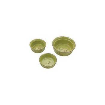 - Ethical Pet Products (Spot) DSO6905 Terra Cotta Stoneware Dog Dish, 5-Inch, Green