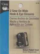 (Dritz Sew On 1 Wide Hook & Eye Closures Pant, Skirt, Slacks & Waistband Clasp by Dritz)