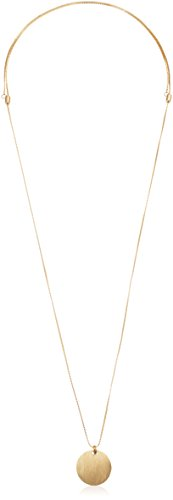 CANVAS Long Disc with Adjustable Chain Pendant Necklace, 36