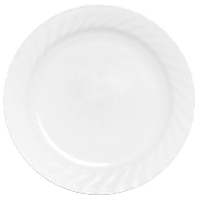 Corell 6017649 ENC 9 Inch Impressions Enhancements Salad / Luncheon Plate - Case of 6 (Enhancements Dinnerware Set)