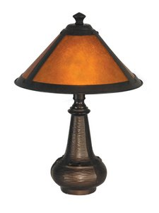 Dale Tiffany TA90191 Hunter Mica Accent Lamp, Antique Bronze and Mica Shade