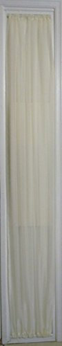 "ECRU SHEER SIDELIGHT CURTAIN 36' WIDE 78"" LENGTH ROD for sale  Delivered anywhere in USA"
