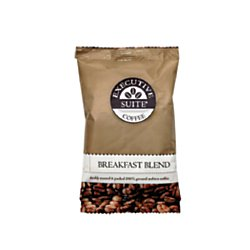 Executive Suite(R) Breakfast Blend Medium Roast Coffee Packets, 1.5 Oz, Box Of 42