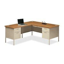 Return Desk Left Pedestal (HON Left Pedestal Return Desk, 42 by 24 by 29-1/2-Inch, Black)