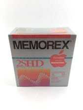 Memorex Mac Formatted 3.5 inch 2SHD (Black) (10Pack) 2/1.4 MB by Memorex