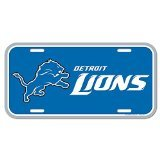 WinCraft NFL Detroit Lions License Plate, Team Color, One Size