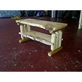 Rustic Log Pine and Cedar Tv Stand Entertainment Center (Clear Lacquer) ()