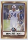 Bruce Matthews (Football Card) 2007 Topps - Hall of Fame #HOF-BM