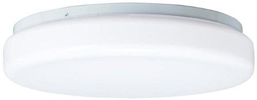 Kichler 10890WH, Energy Efficient Flush Mount Ceiling Light, 22 Watts Fluorescent, White ()