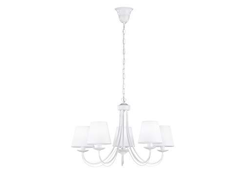 Trio - Lámpara LED de techo (intensidad regulable, 5 puntos ...
