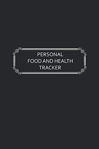 Personal Food and Health Tracker: Six-Week Food and Symptoms Diary (Black, 6x9) (Symptoms Of An Eating Disorder In A Teenager)