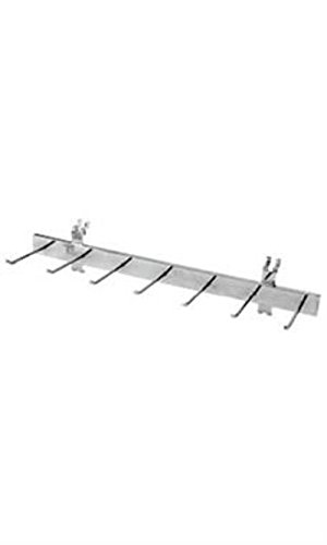 Single Pc Multi Hook Chrome Belt and Tie Display Rack for Wire Grid/Slatwall ()