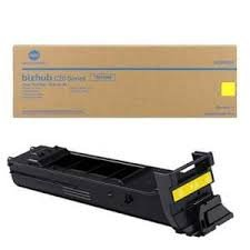 (Genuine OEM brand name Konica Minolta Yellow Toner for Bizhub C20P/C20PX TN318Y A0DK233)